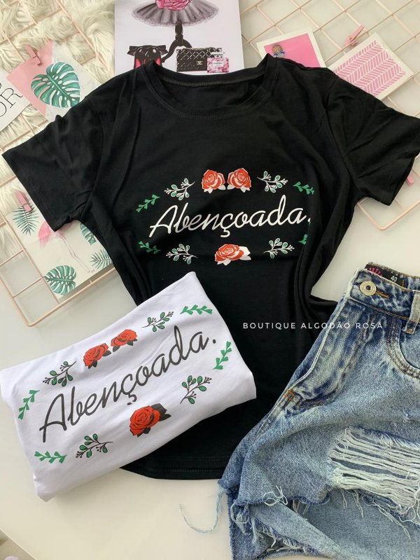 T-shirt Abençoada