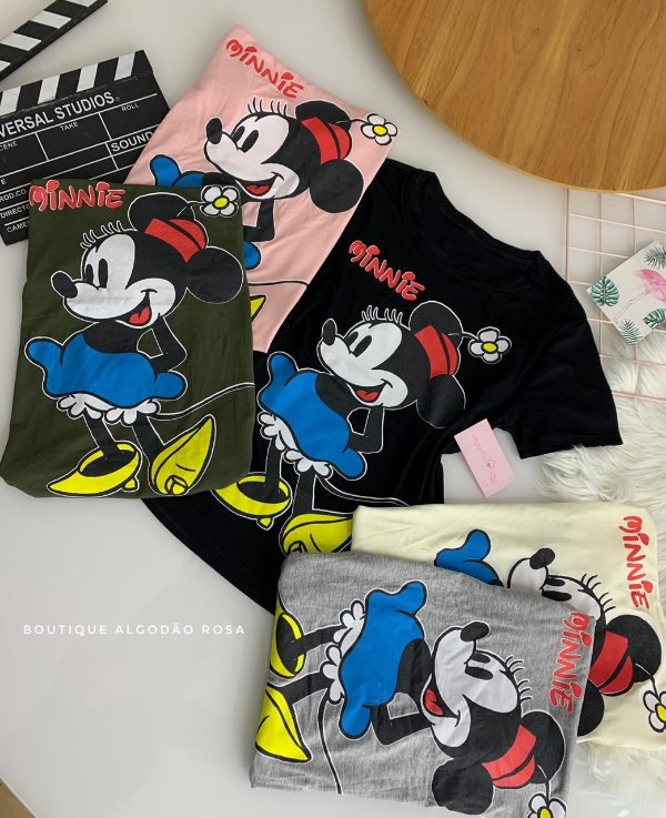 T-shirt Minnie Cores