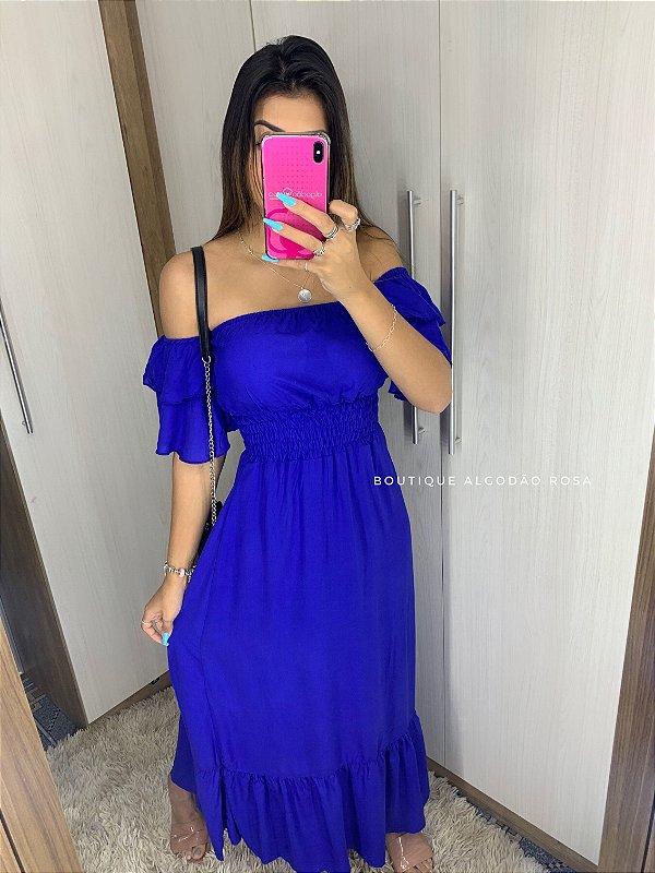 Vestido Ana Beatriz Azul