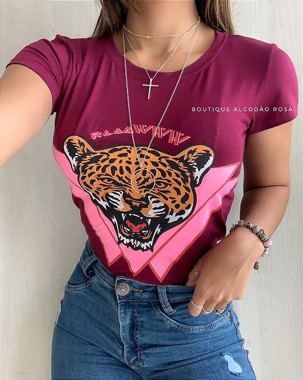T-shirt Tigre Vinho