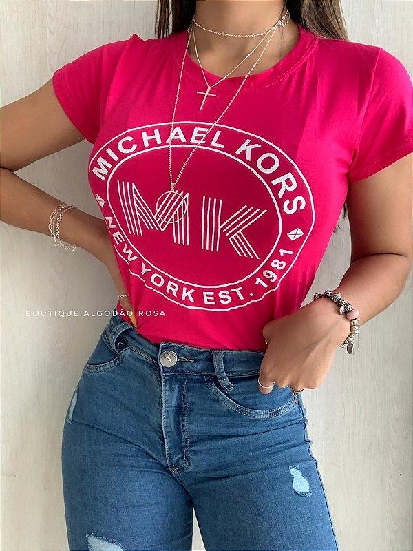 T-shirt New York Rosa