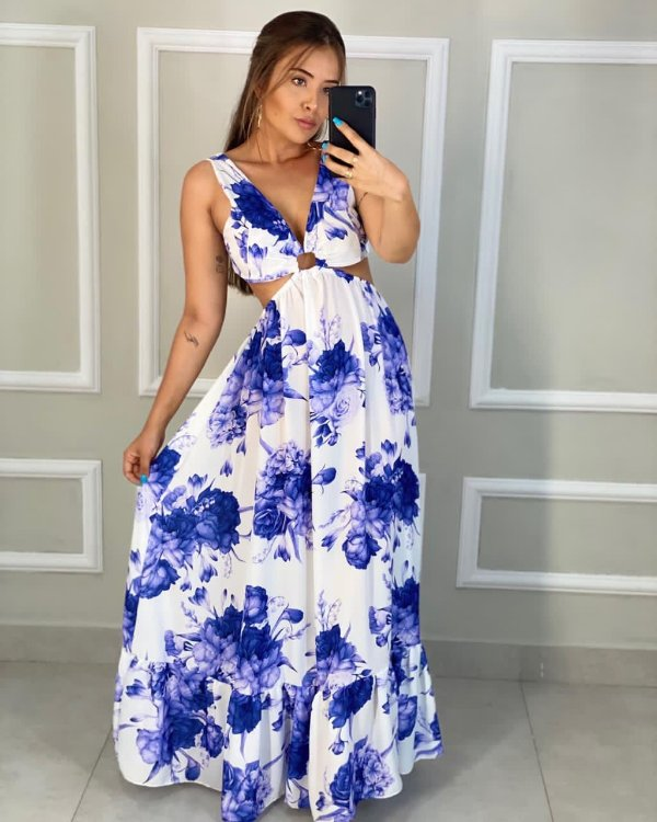 Vestido Santini NOVA ESTAMPA