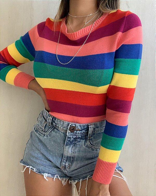 Blusa Arco-íris