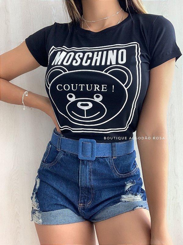 T-shirt Ursinho Azul marinho