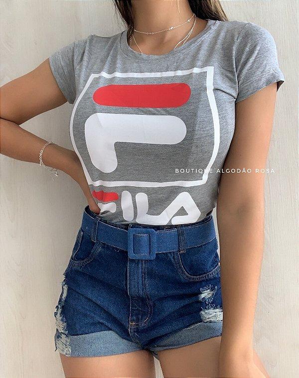 T-shirt Katia Cinza