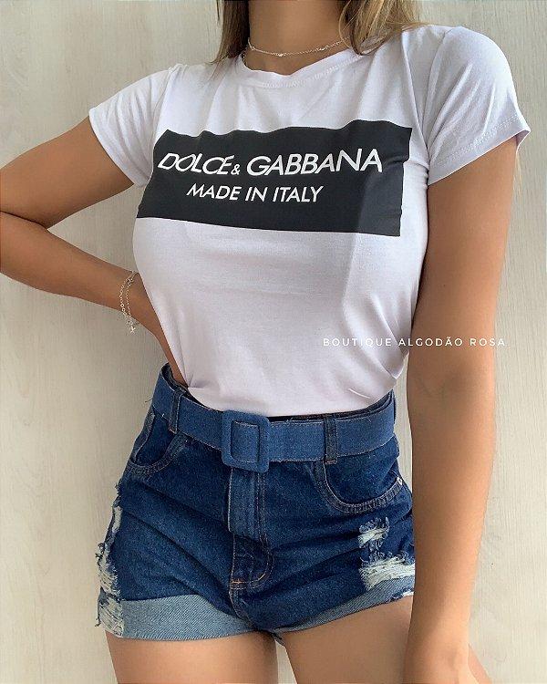 T-shirt Italy Branca