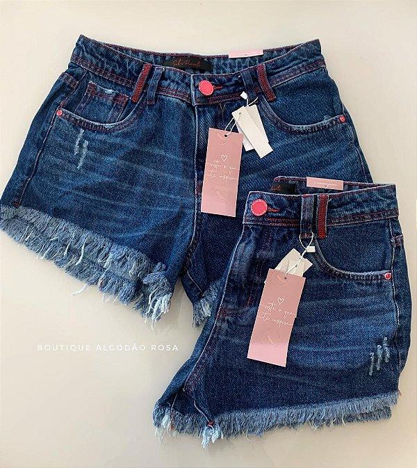 Short Mia Jeans Rosa