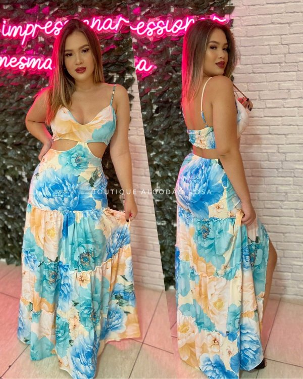 Vestido Liza Azul