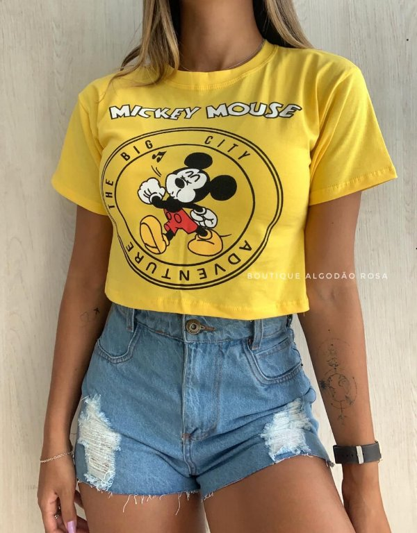 Cropped Mouse Amarelo