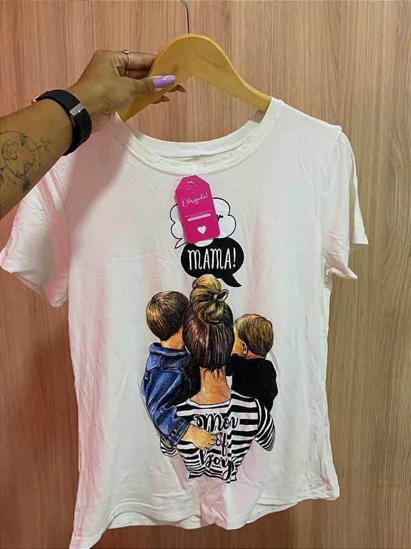 T-shirt Mãe de Meninos