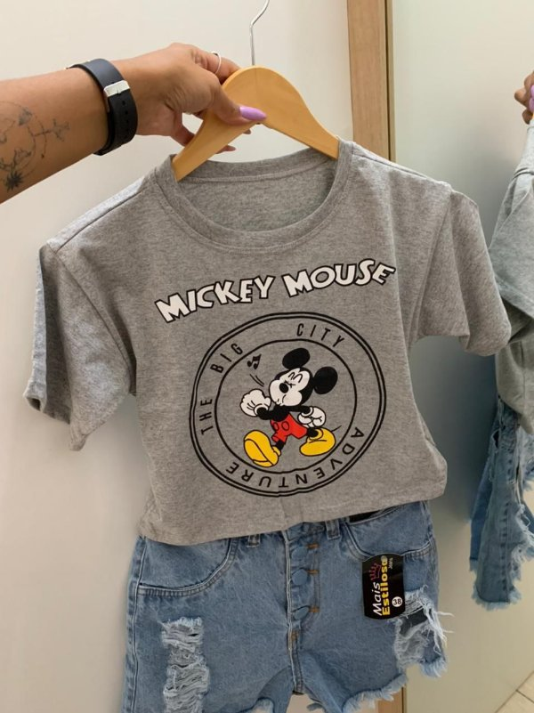Cropped Mouse Cinza