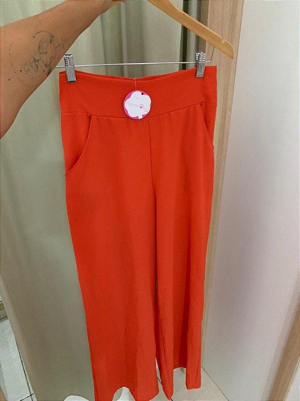 Calça Pantalona Pati Laranja
