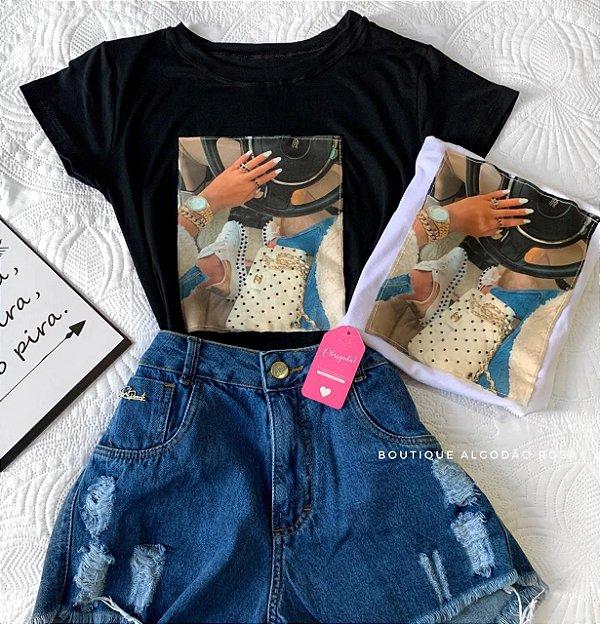 T-shirt Sophie Preta