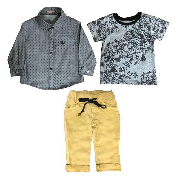 Conjunto 3 peças - Camisa 6eca02f2e0d