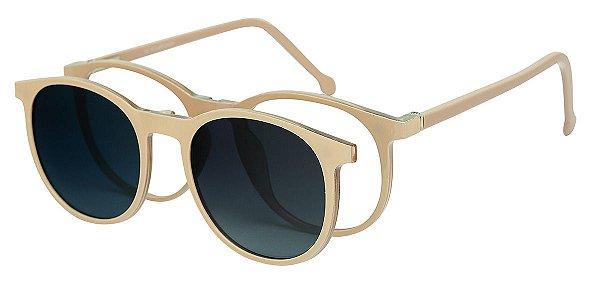 Armação Óculos Receituário e Sol Clipon Com 1 Lente AT 5020 Nude