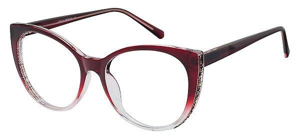 Armação Óculos Receituário AT 2075 Vermelho Degradê