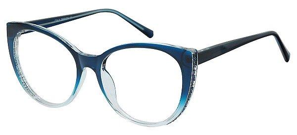 Armação Óculos Receituário AT 2075 Azul Degradê