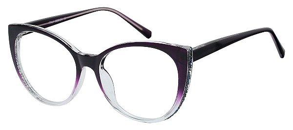 Armação Óculos Receituário AT 2075 Vinho Degradê