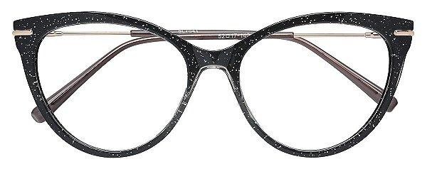 Armação Óculos Receituário AT 7041 Preto Brilhante