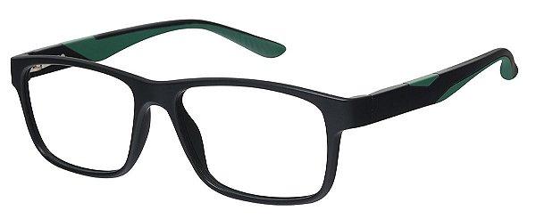 Armação Óculos Receituário AT 1066 Preto/Verde