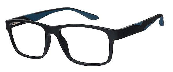 Armação Óculos Receituário AT 1066 Preto/Azul