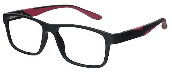 Armação Óculos Receituário AT 1066 Preto/Vermelho