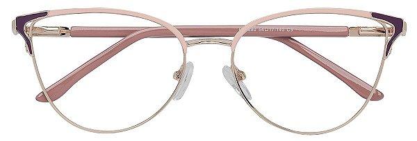 Armação Óculos Receituário AT 8380 Dourado/Rosa