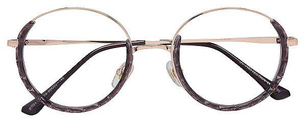 Armação Óculos Receituário AT 98192 Lilás/Dourado