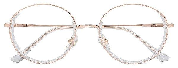 Armação Óculos Receituário AT 98192 Transparente/Dourado