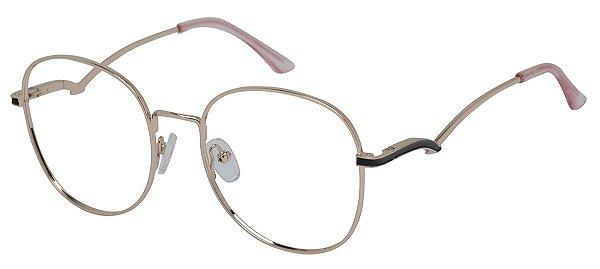 Armação Óculos Receituário AT 1020 Dourado
