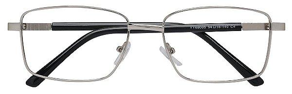 Armação Óculos Receituário AT 68005 Prata