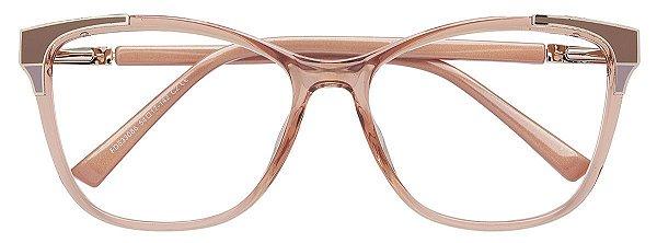 Armação Óculos Receituário AT 633086 Champagne Transparente