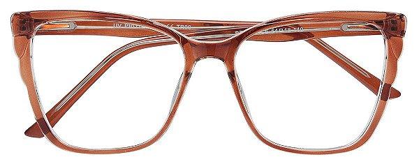 Armação Óculos Receituário AT 4279 Marrom Transparente