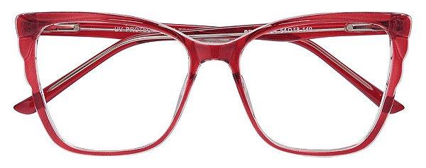 Armação Óculos Receituário AT 4279 Vermelho Transparente