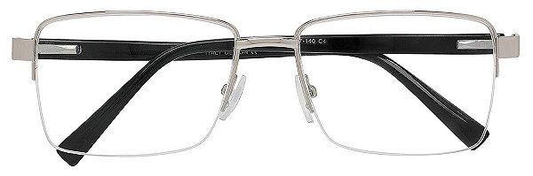 Armação Óculos Receituário AT 88002 Prata