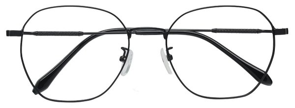 Armação Óculos Receituário AT RD01 Preto Hexagonal