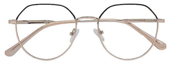 Armação Óculos Receituário AT 1037 Marrom/Dourado