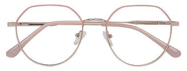 Armação Óculos Receituário AT 1037 Rosa/Dourado