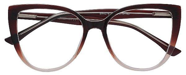 Armação Óculos Receituário AT 4276 Marrom Degradê