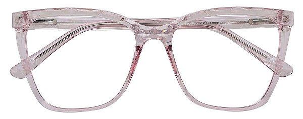 Armação Óculos Receituário AT 66006 Rosé Transparente