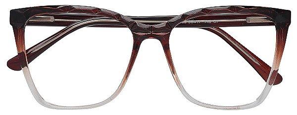 Armação Óculos Receituário AT 66006 Marrom Degradê
