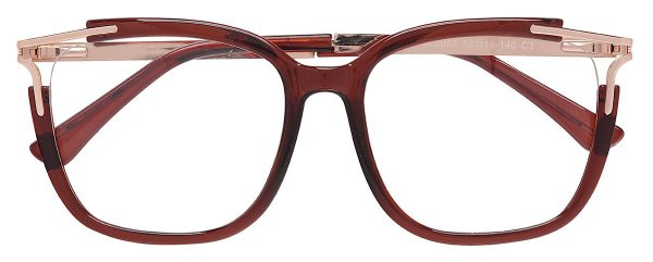Armação Óculos Receituário AT 2067 Marrom Transparente