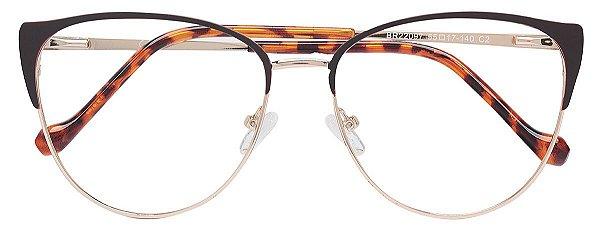 Armação Óculos Receituário AT 22097 Marrom/Dourado