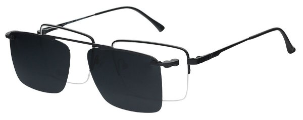 Armação Óculos Receituário e Sol Clipon Com 1 Lente AT 88016 Preto
