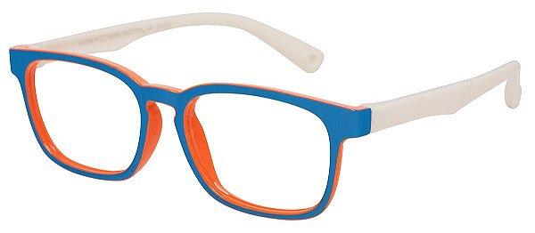 Armação Óculos Receituário Infantil AT 8139 Azul/Branco (04 A 12 Anos)