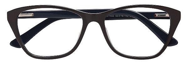 Armação Óculos Receituário AT 1023 Marrom/Azul