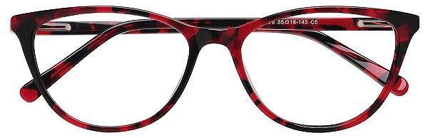 Armação Óculos Receituário AT 9078 Vermelho