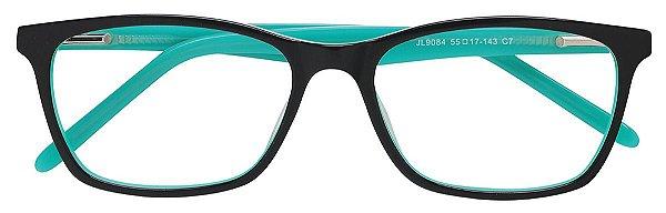 Armação Óculos Receituário AT 9084 Preto/Verde