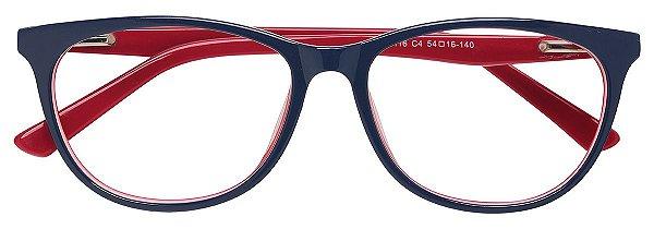 Armação Óculos Receituário AT 8116 Azul/Vermelho