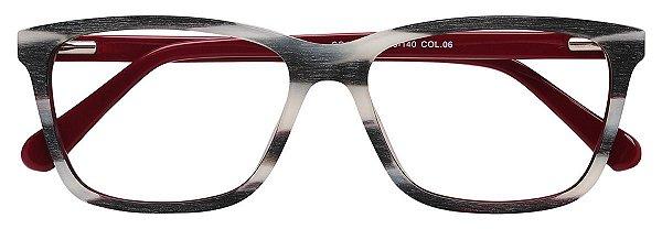 Armação Óculos Receituário AT 12 Branco Mesclado